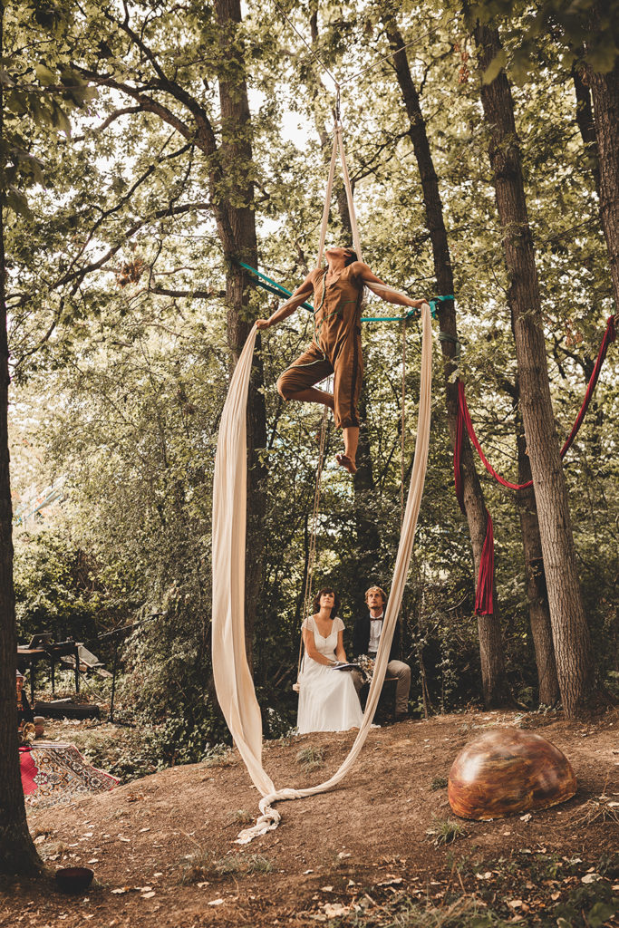 mariage dans un cirque